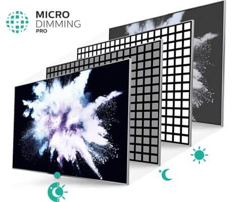 Micro Dimming Pro TV ekrano kontrasto valdymas